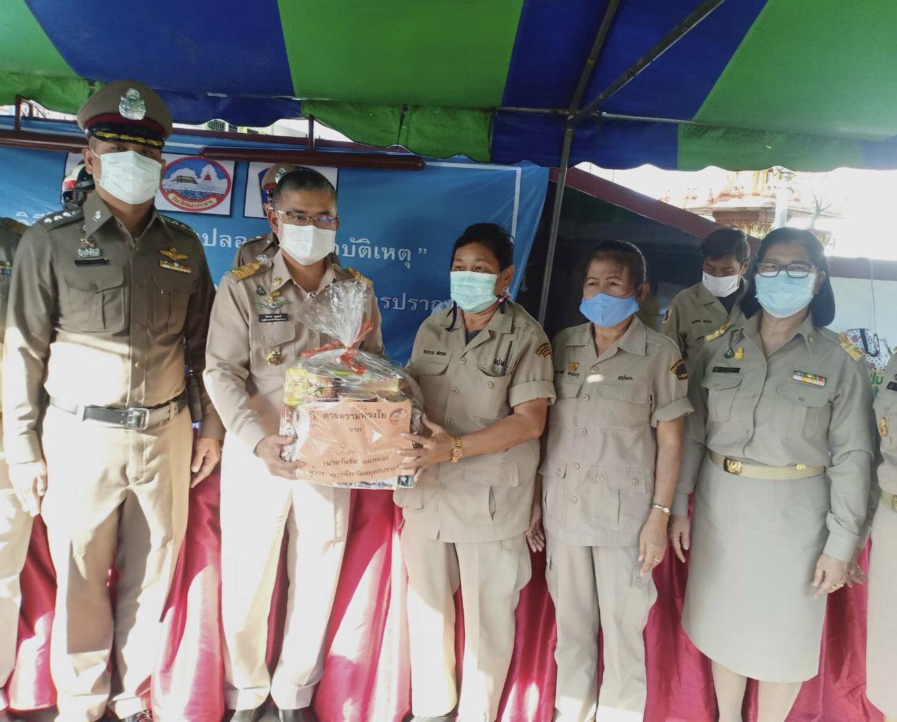 การตรวจเยี่ยมจุดตรวจ จุดบริการ การป้องกันและลดอุบัติเหตุทางถนน ช่วงเทศกาลปีใหม่ พ.ศ. 2564